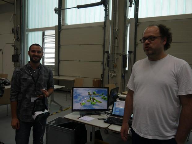 Team 4 wollte kooperative Spielideen in VR ausprobieren. (Bild: Jan Bojaryn)