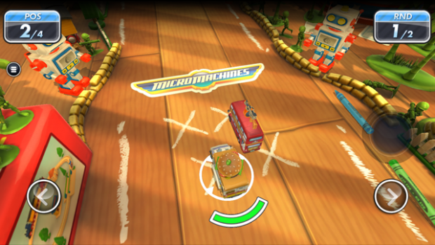Micro Machines für iOS (Screenshot: Golem.de)