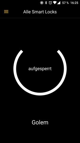 Der Startbildschirm der Nuki-App mit der Anzeige unseres Smart Locks. (Screenshot: Tobias Költzsch/Golem.de)