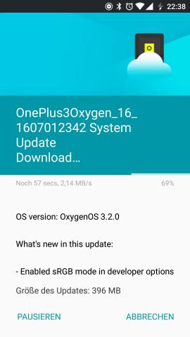 Das Changelog des Updates (Screenshot: Golem.de)