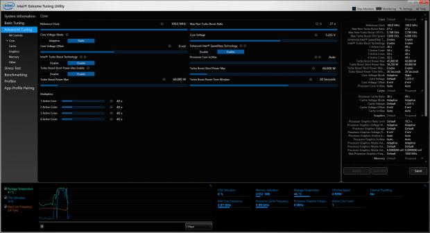 4 GHz bei 1,225 Volt und 60 Watt Power-Target (Screenshot: Marc Sauter/Golem.de)