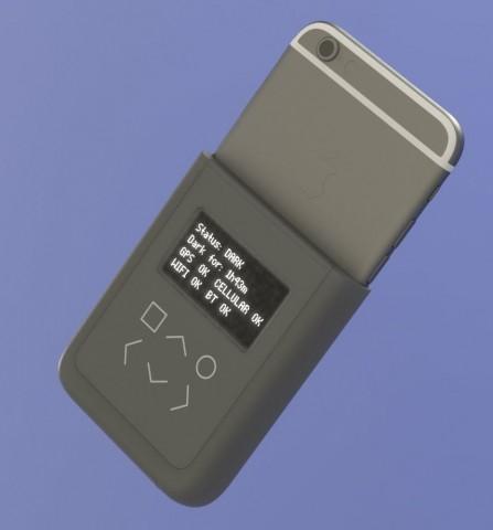 Konzept einer Spezialhülle für das iPhone 6, die anzeigt, sobald Daten gefunkt werden. (Bild: Edward Snowden/Andrew Huang)