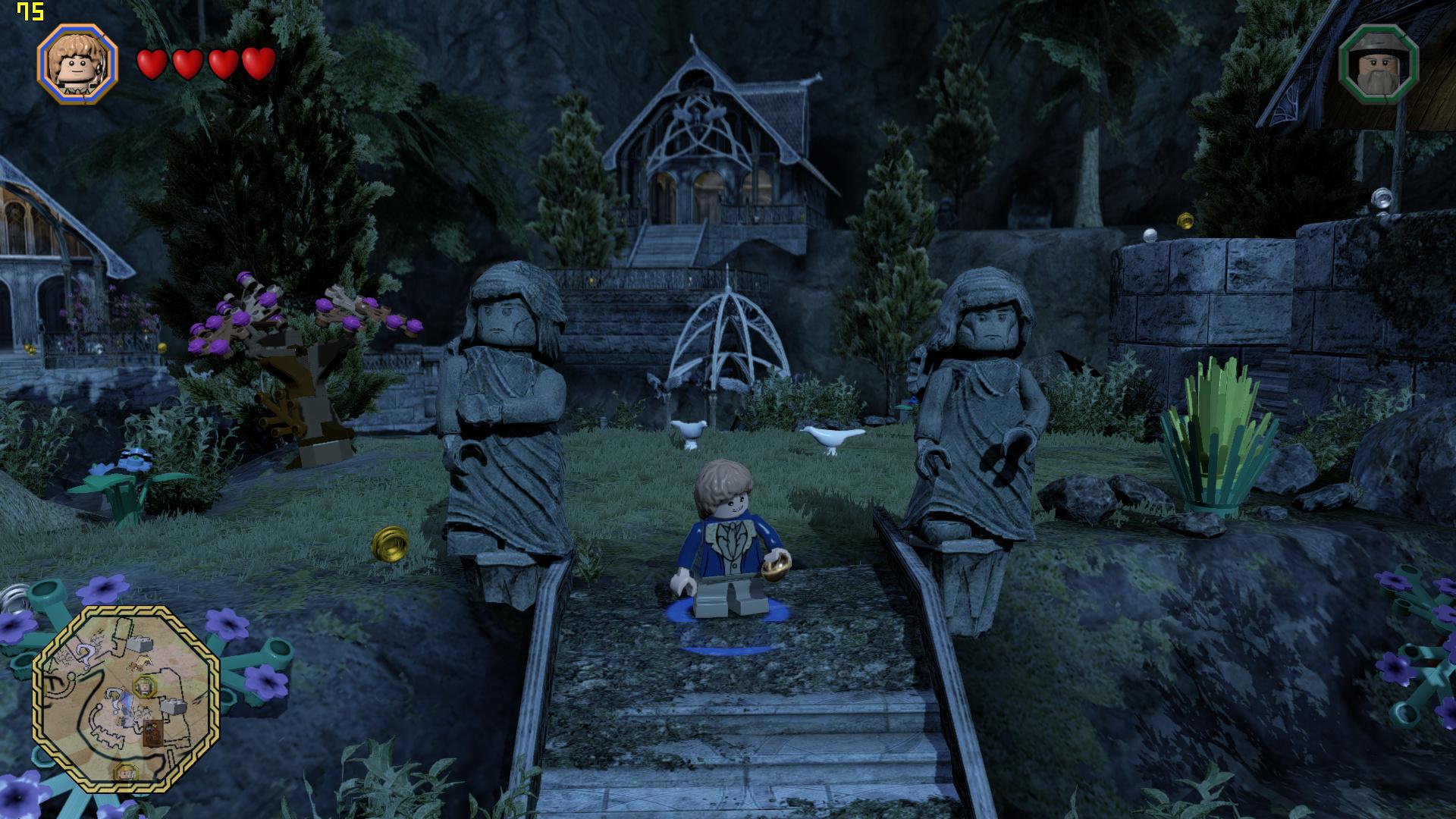 Mini-PC Skull Canyon im Test: Totenkopf-NUC mal nicht von ihren Treibern ermordet - Lego The Hobbit in 1080p auf dem Skull Canyon (Screenshot: Marc Sauter/Golem.de)