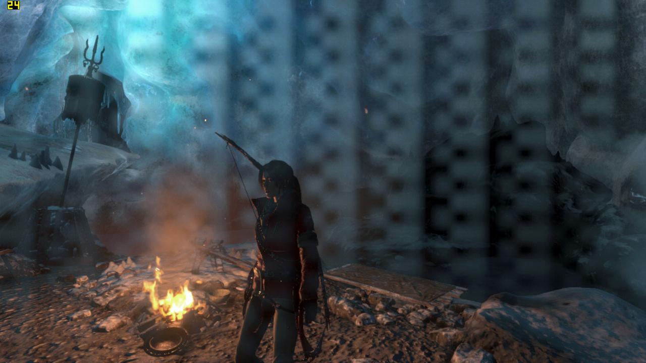 Mini-PC Skull Canyon im Test: Totenkopf-NUC mal nicht von ihren Treibern ermordet - Rise of the Tomb Raider in 720p auf dem Skull Canyon (Screenshot: Marc Sauter/Golem.de)