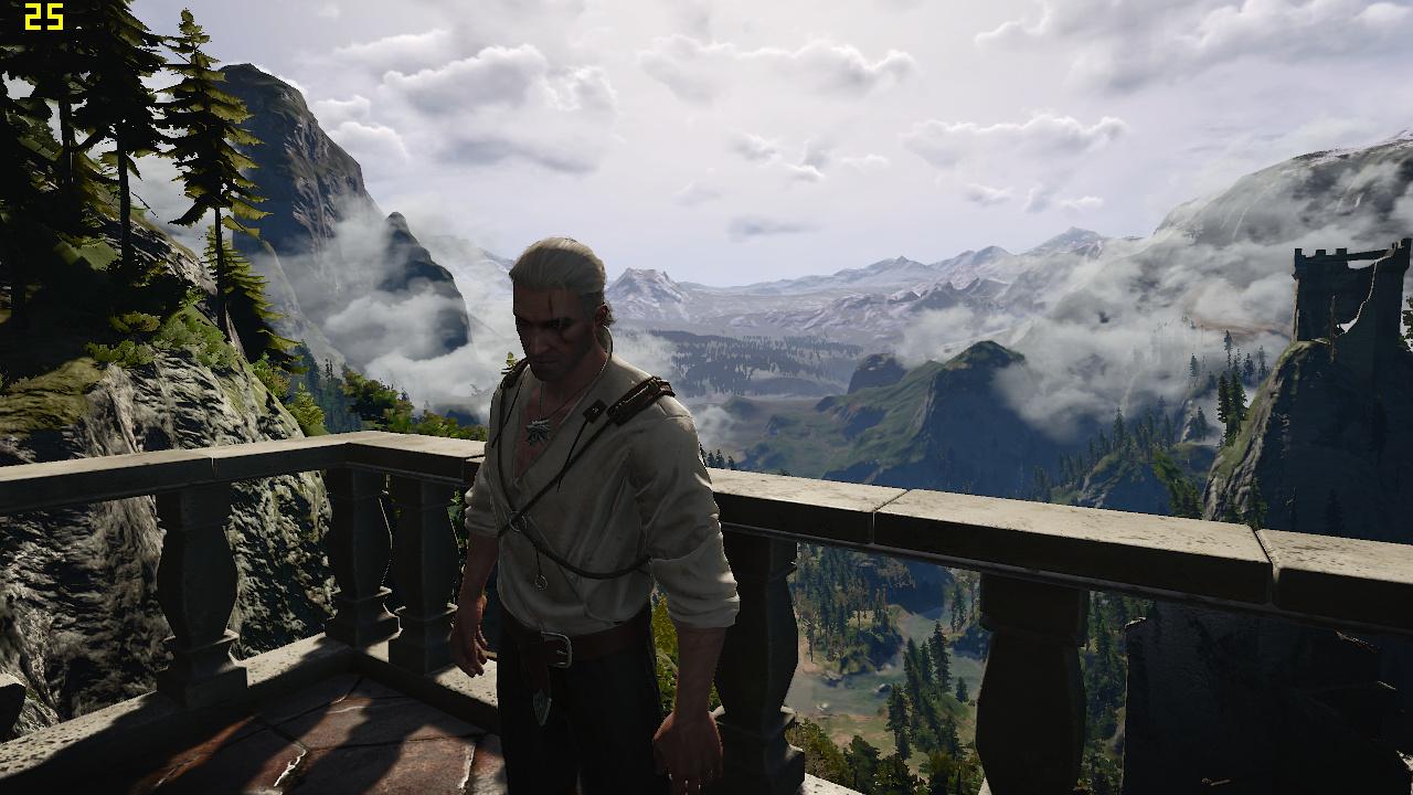 Mini-PC Skull Canyon im Test: Totenkopf-NUC mal nicht von ihren Treibern ermordet - The Witcher 3 in 720p auf dem Skull Canyon (Screenshot: Marc Sauter/Golem.de)