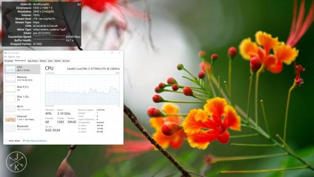 Der 6770HQ beschleunigt VP9 nicht in Hardware. (Screenshot: Marc Sauter/Golem.de)