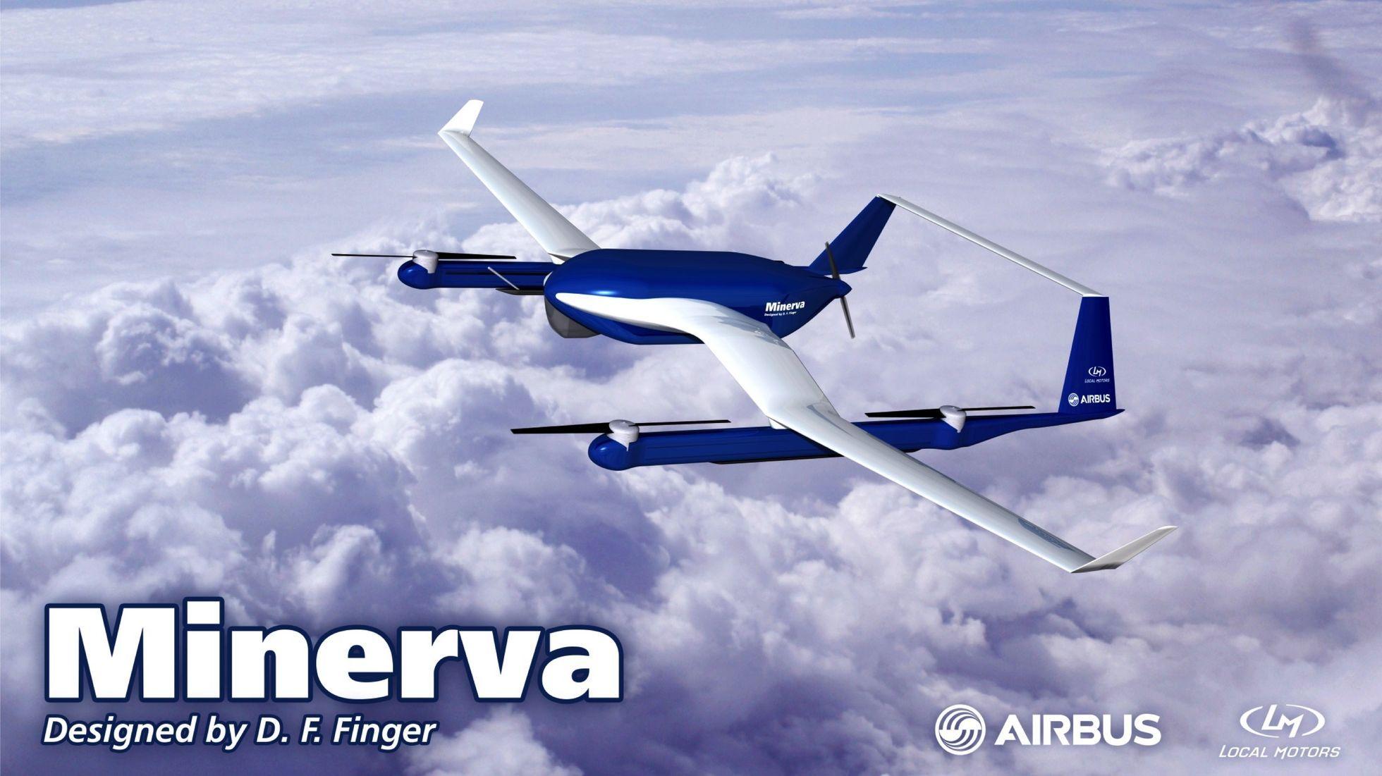 Crowdsourcing: Airbus zeichnet Lieferdrohnen aus - Die Drohne Minerva stammt aus Deutschland. (Bild: Airbus Group/Local Motors)
