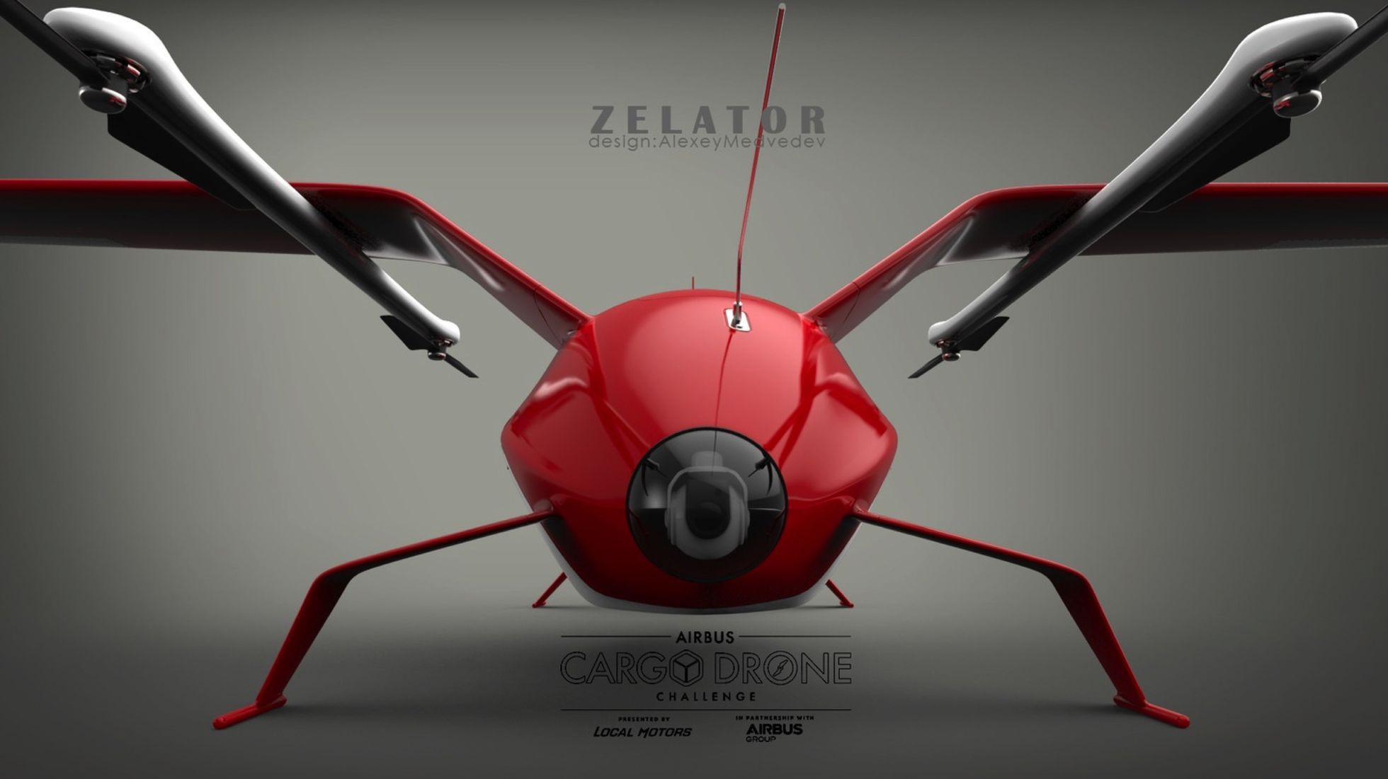 Crowdsourcing: Airbus zeichnet Lieferdrohnen aus - Zelator stammt aus Russland. (Bild: Airbus Group/Local Motors)
