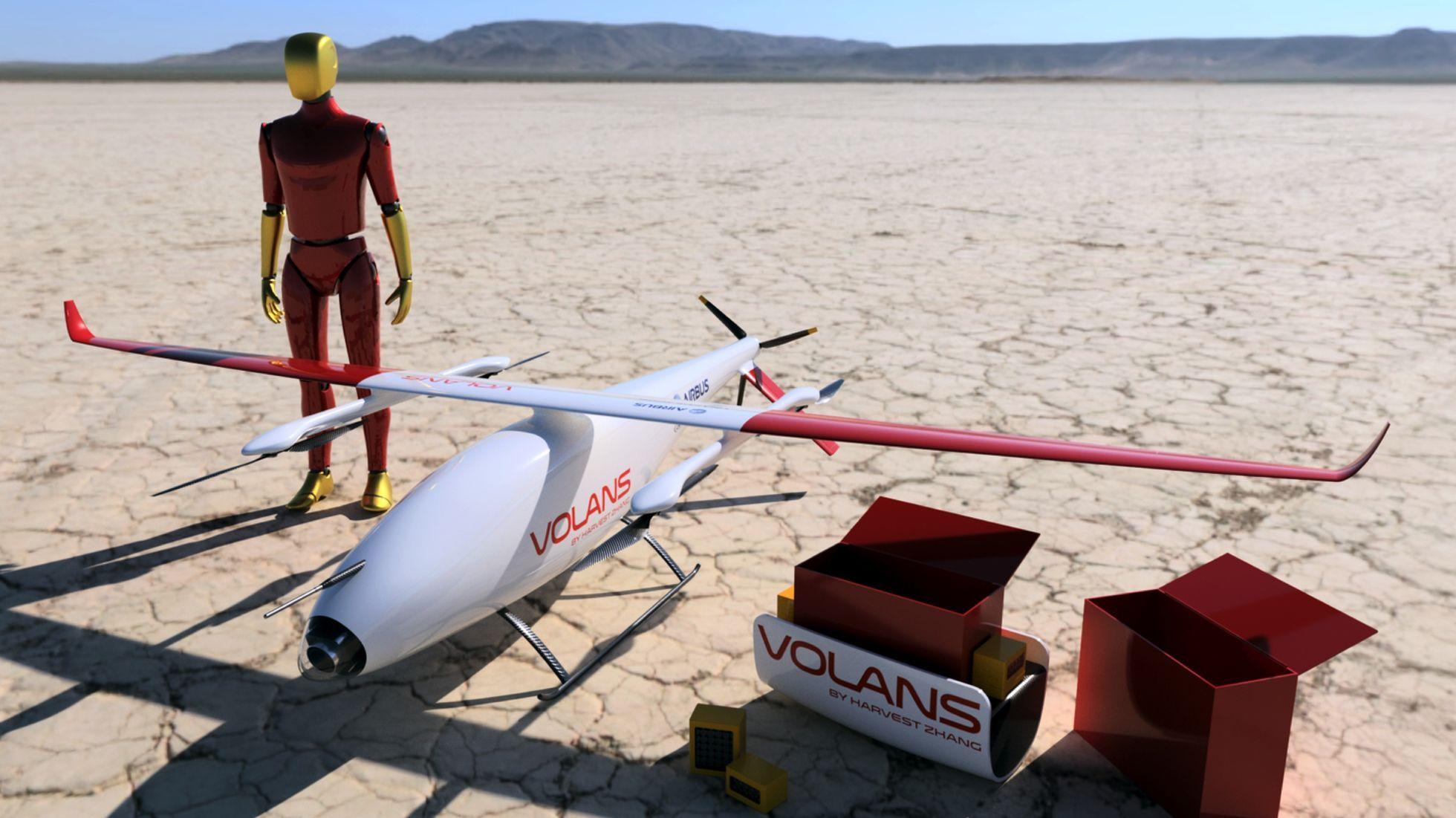 Crowdsourcing: Airbus zeichnet Lieferdrohnen aus - Volans ist eine kalifornische Drohne. (Bild: Airbus Group/Local Motors)