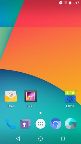 Der Copperhead-Startbildschirm. Das System basiert auf dem Cyanogen Mod. (Screenshot:Golem.de)