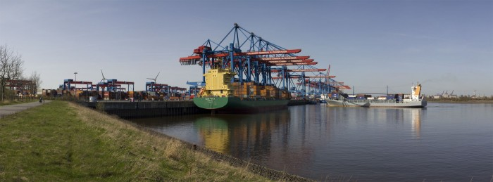 Das Containerterminal Altenwerder (CTA) im Hamburger Hafen. (Foto: Werner Pluta/Golem.de)