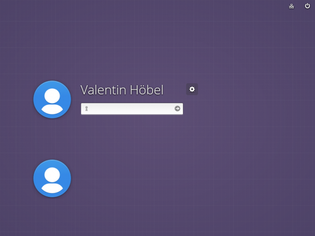 Der Login-Bildschirm wirkt auf Grund des Hintergrundes recht kahl. (Bild: Screenshot Valentin Höbel)