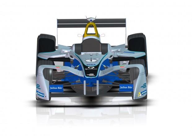 Der neue, doppelstöckige Frontflügel soll den Autos ein aggressives, einzigartiges Aussehen verleihen. (Bild: Formel E)