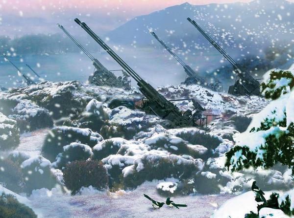Idyll mit Flakgeschützen: Nordkoreas Linux-Macher verstehen volles Rohr was von Romantik. (Bild: Kristian Kißling/Linux Magazin)