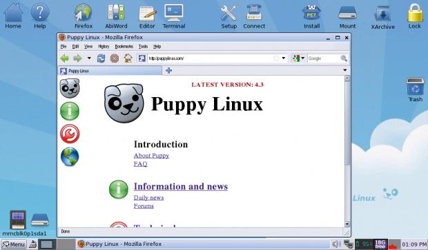 Puppy gehört zu den Klassikern unter den Linux-Winzlingen und heißt nach einem Chihuahua. (Bild: Kristian Kißling/Linux Magazin)
