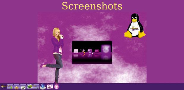 Die Macher von Hannah Montana Linux haben sich beim Theme ziemlich reingehängt. (Bild: Kristian Kißling/Linux Magazin)