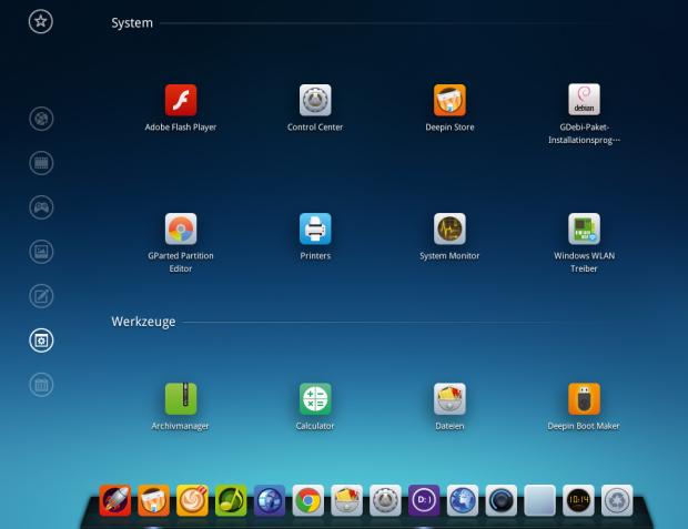 Die Macher vom Deepin-Linux haben einen eigenen Desktop entwickelt. (Bild: Kristian Kißling/Linux Magazin)