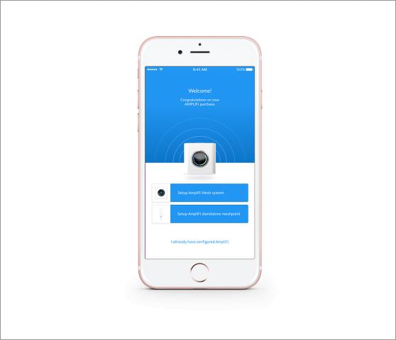 Die App gibt es vorerst nur für iOS und Android. (Screenshot: Ubiquiti Networks)