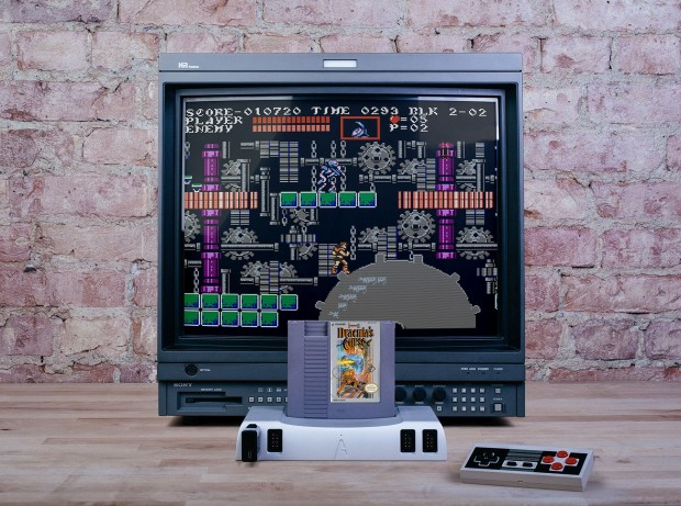 Der Analogue Nt mini mit einem NES-Spiel. (Bild: Analogue)