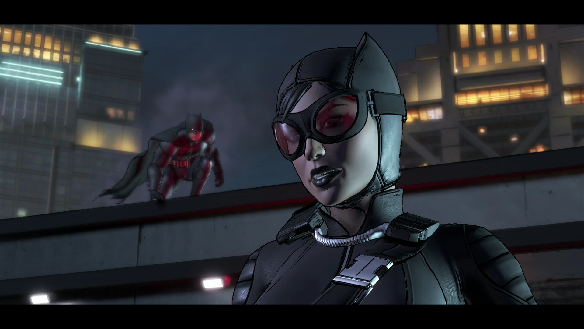 Batman im Kurztest: Interaktiver Milchbubi - Batman trifft Catwoman. (Screenshot: Golem.de)