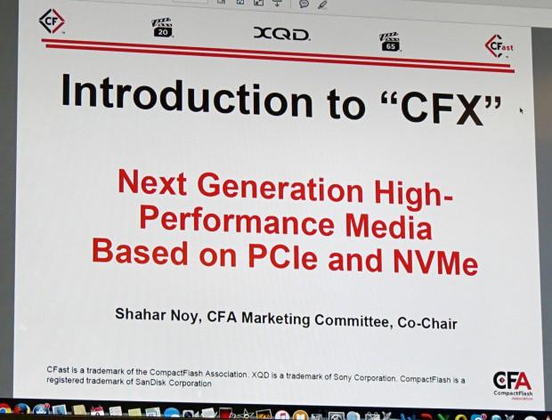 Präsentation zum CFX-Standard (Foto: Lutz Labs/Heise)