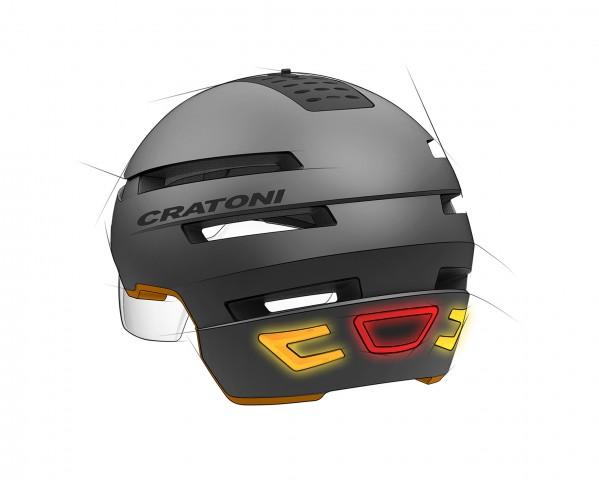 Cratoni-Smarthelm mit Blinker (Zeichnung: Cratoni)
