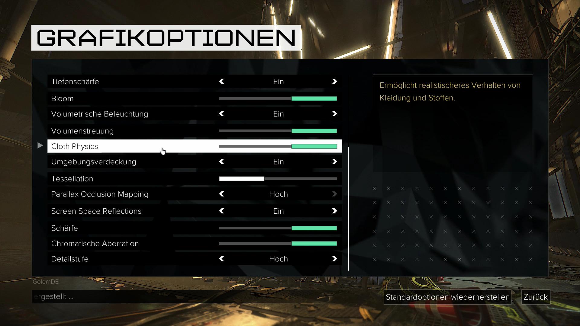 Deus Ex Mankind Divided im Test: Der Agent aus dem Hardwarelabor - Die PC-Version bietet ... (Screenshot: Golem.de)