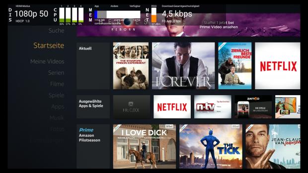 Amazon: Fire-TV-Geräte haben ein geheimes Menü - Golem de