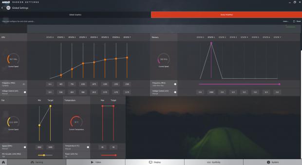 Unsere OC-Einstellungen für die Radeon RX 470 (Screenshot: Marc Sauter/Golem.de)
