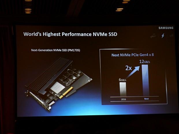 Die PM1735 ist die weltweit schnellste SSD (Foto: Marc Sauter/Golem.de)