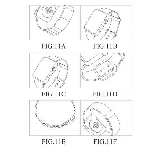 Eine der Skizzen in Samsungs Patentantrag: Die Apple Watch ist unverkennbar. (Bild: USPTO)