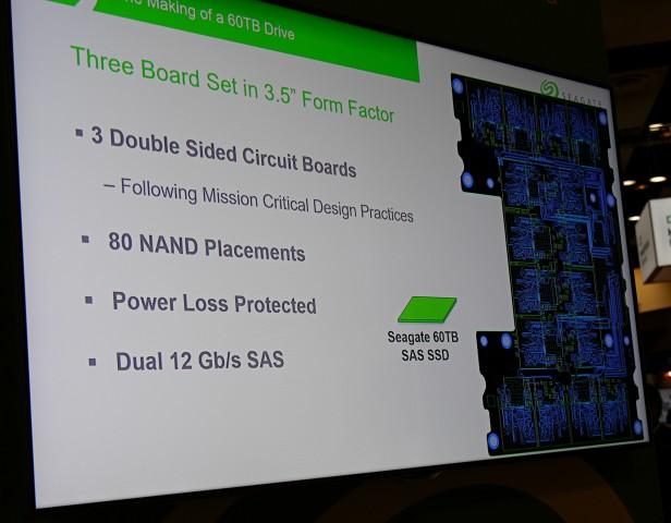 Seagate-Präsentation zur 60-TByte-SSD (Foto: Marc Sauter/Golem.de)