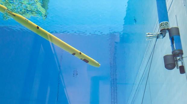 Das Manöver haben die DFKI-Forscher in ihrer Maritimen Explorationshalle getestet. (Foto: Annemarie Popp/DFKI)
