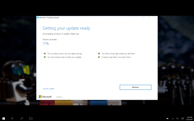 Der Windows 10 Update Assistant für die Version 1607 (Screenshot: Golem.de)