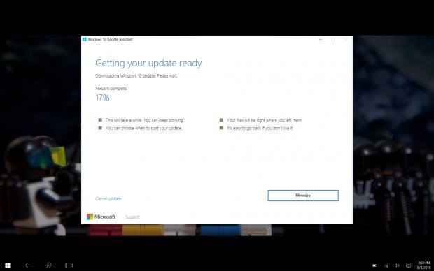 Der Windows 10 Update Assistant für die Version 1607 (Screenshot: Golem.de)