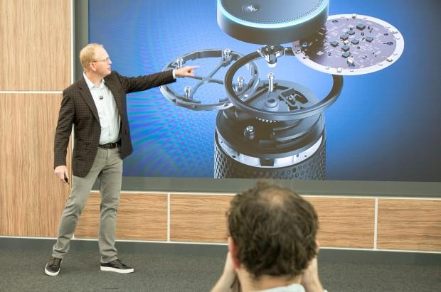 Amazon zeigt das Echo für Deutschland (Bild: Martin Wolf/Golem.de)