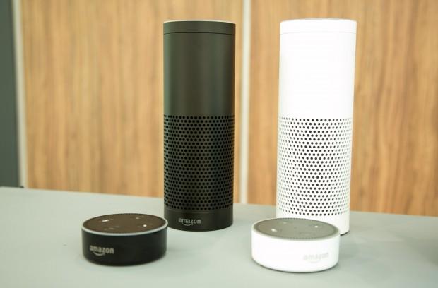 Echo und Echo Dot in zwei Farben (Bild: Amazon)