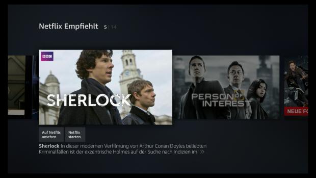 Neue Netflix-Rubrik auf dem Fire-TV-Hauptbildschirm (Screenshot: Golem.de)