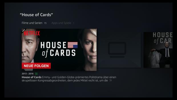 In der Fire-TV-Sprachsuche erscheinen auch Netflix-Inhalte. (Screenshot: Golem.de)