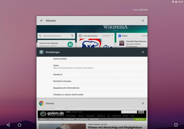 Ganz am Ende der Karten-App-Liste findet sich der Befehl zum Bereinigen der Übersicht. (Screenshot: Golem.de)
