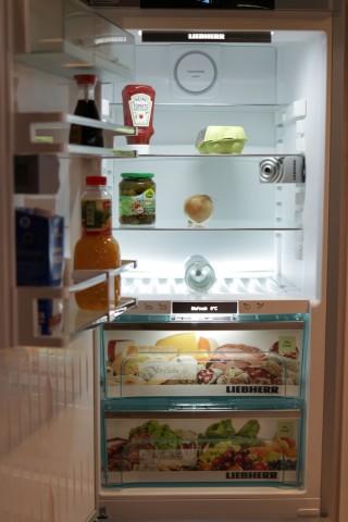 Zwei Kameras überwachen den Innenraum des Kühlschranks. (Bild: Michael Wieczorek/Golem.de)