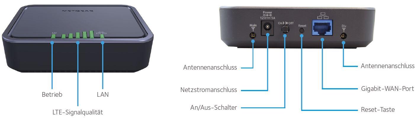 Netgear LB1111 mit PoE: LTE-Modem braucht kein Netzteil - LB-111x (Bild: Netgear)