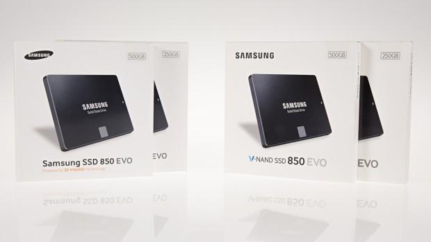 Samsungs aktuelle 850 Evo nutzt die rechte Packung (Foto: Martin Wolf/Golem.de)