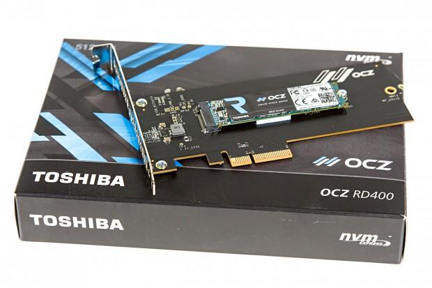 Toshiba verkauft die OCZ RD400 auch mit Adapter. (Foto: Martin Wolf/Golem.de)