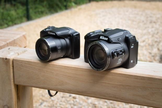 Die Canon Powershot SX 420 IS ist eindeutig kompakter. (Bild: Martin Wolf/Golem.de)