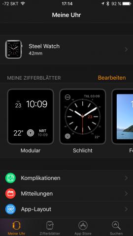 Die Kompagnon-App ist übersichtlicher geworden. (Screenshot: Golem.de)