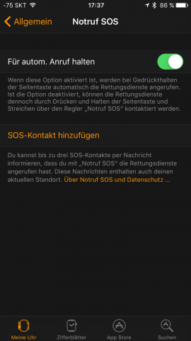 Die Notruffunktion (Screenshot: Golem.de)