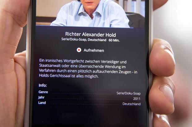 Zu jeder Sendung gibt es weitere Informationen. (Bild: Martin Wolf/Golem.de)