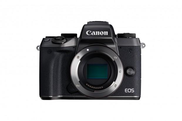 Canons neue Systemkamera EOS M5 hat jetzt einen integrierten Sucher ... (Foto: Canon)