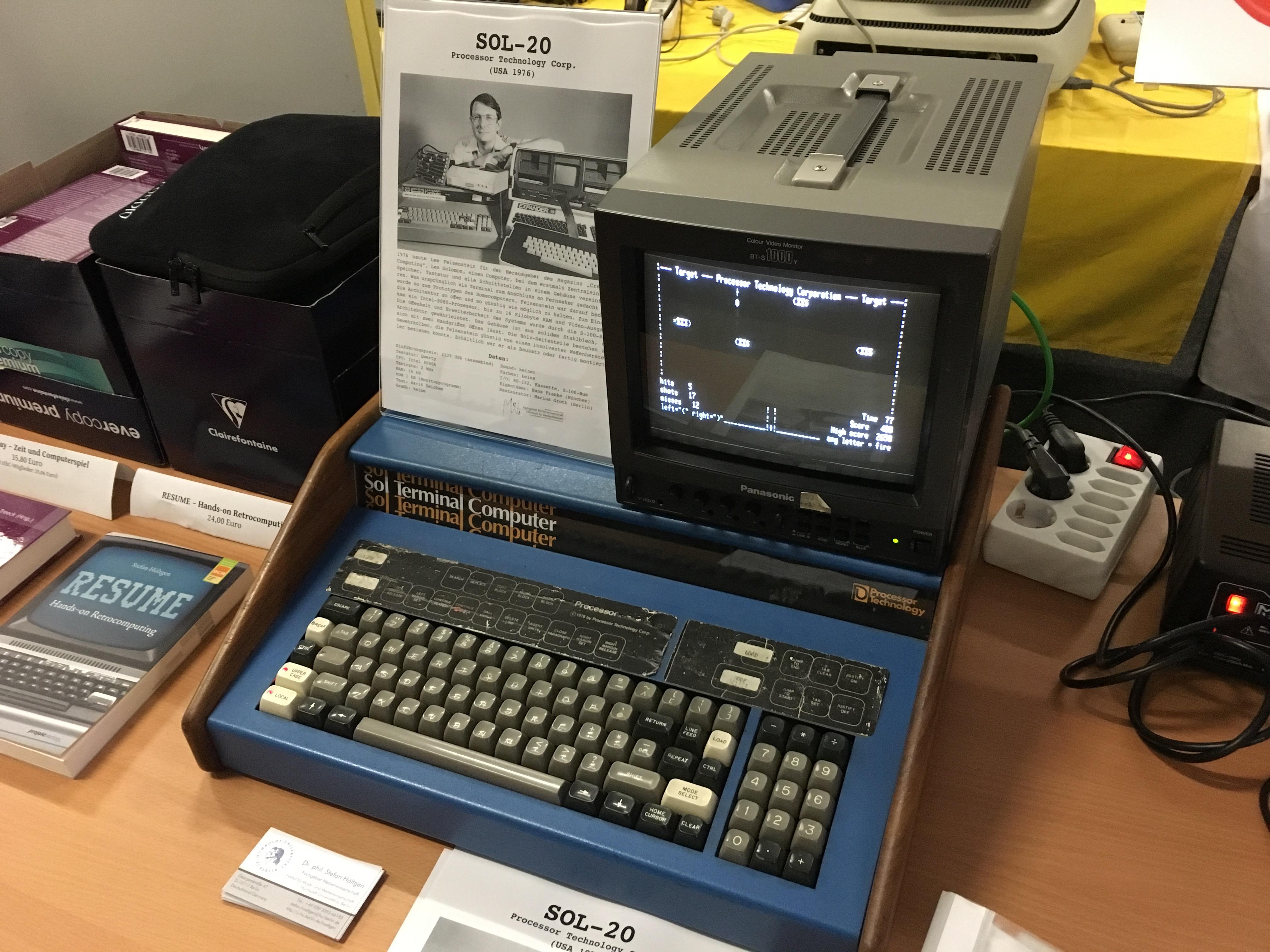 Classic Computing 2016: Wie Nordhorn für ein Wochenende zu Nerdhome wurde - Ein eher unbekannter Computer aus den 70ern, der SOL 20 (Bild: Mario Keller)